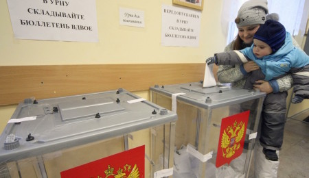 04.03.2012.-Russia. St.-Petersburg. Presidential elections of the Russian Federation in St.-Petersburg.